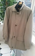 Mens Bugatti Coat,  Beige Coat Size 40 R Europe, BRAND NEW L/XL Stunning!