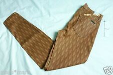 $200 New HUDSON 'Nico' Supper Skinny sz 28/6 Brick Red/Gold MADE IN USA ankle