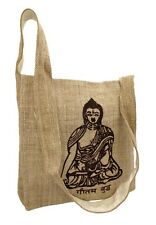 BUDDHA Hemp Natural Embroidered Yoga Hippie Boho Shoulder BAG Backpack Purse