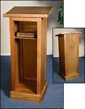 "Full Solid Wood Church Chapel Lectern Pulpit with Shelf Chruch Furniture 45""H"