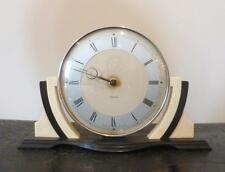 Stylish Art Deco Black & Cream Bakelite Smiths Mantel Clock 1930's - Working