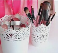 Set Of Two Make Up Brush Holder Pot White / One Large Pot And One Small FREEPOST