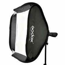 Godox 40x40cm Softbox Bag Kit for Camera Studio Flash fit Bowens Elinchrom Mount