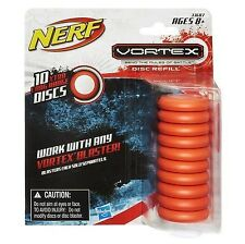 Nerf Vortex Refill Pack 10 discs- Orange