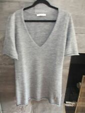 See by Chloe S/S light gray knit tunic sweater size US 10 I 46 made in Italy