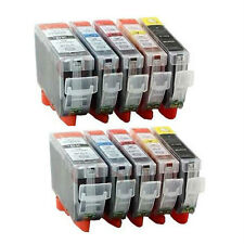 10 INK CARTRIDGE PGI-525 CLI-526 Canon Pixma MG5250 MG5350 IP4850 IP4950