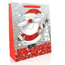 1 x support de luxe sac cadeau de Noël-décoration paillettes sac de papier cadeaux fête