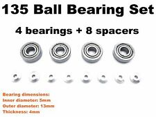 HG 135 (13*5*4mm) Ball Bearings Set for All Tamiya Mini4WD PRO