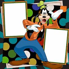 Premade - Double Page - Scrapbook Layouts Disney Goofy - 454