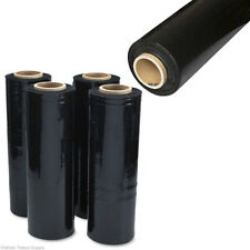 "8 ROLLS BLACK PALLET WRAP STRETCH FILM 18""  80 Guag"