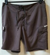 Quiksilver Size 40 Brown Board Shorts 40 X 10 Light weight 2 Flap Pockets