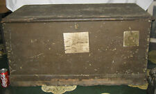 AMERICAN COUNTRY PRIMITIVE WOOD BOX CHEST TRUNK TABLE BENCH FOLK ART STAND PAINT