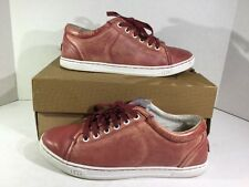 UGG Tomi Red Leather Sneakers Womens Shoe Size 8 Z9-587