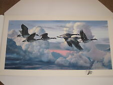 """"""" ABOVE THE STORM """"  by Artist Jack Paluh  - GOOSE PRINT WITH COSTUM REMARK"""