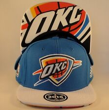 Oklahoma City Thunder Adidas NBA Draft Cap Snapback Hat Blue White