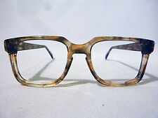 Vintage Bold Men's Eyeglass Frame in Banana with Keyhole in size 50-18 - NOS