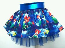 Disneys Ariel, The little mermaid Blue costume tutu party skirt. Age 1 2 3 4 5 6