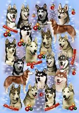 Siberian Husky Christmas Wrapping Paper By Starprint  - Auto combined postage
