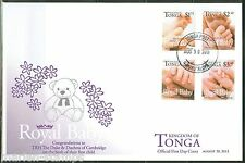 TONGA 2013 BIRTH OF PRINCE GEORGE SET OF FOUR FIRST DAY COVER