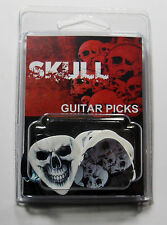 """SKULLS"" Guitar Pick Pack, 6 Picks .71mm Clamshell, pics, plectrums"