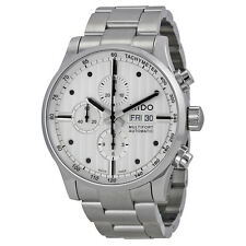 Mido Multifort Chronograph Silver Dial Stainless Steel Mens Watch M0056141103100