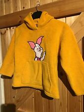 "Disney. Piglet Hoody. Mustard Yellow Chest 26"" Approx 5 Years Old. Winnie Pooh"