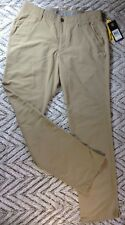 Under Armour Golf Pants Match Play Flat Front Straight Leg 4-Pocket Beige