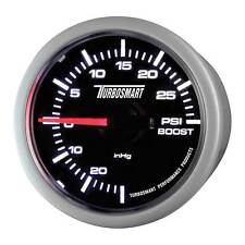 Turbosmart Turbo Boost Gauge 52mm - 0-30 PSI - Black Dial Face/White Detail