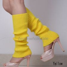 Womens Party Legwarmers Knitted Neon Dance 80s Costume 1980s Leg Warmers