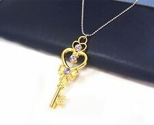 Free Shipping Sailor Moon Key of Space Time Cosplay Pendant Necklace Golden New
