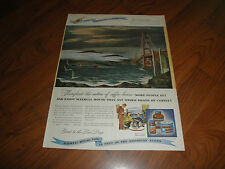 Maxwell House AD_GOLDEN GATE BRIDGE-1947-Gorgeous Drawing-Good to the last Drop
