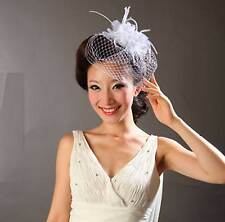 Wedding Bridal Rhinestone Pearl Flowers Birdcage Net Veil Cover Mask Hair Comb