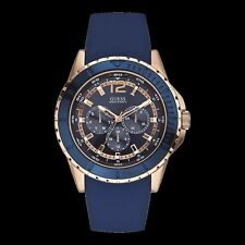 Guess Maverick Mens Analogue 24hr Day Date Blue Dial Fashion Watch W0485G1