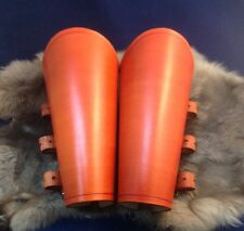 Orange Leather Bracers Armor Vambraces Arm Guards Cosplay Theater Stage TV