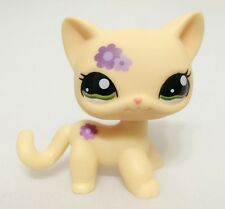 Hasbro Littlest Pet Shop Collection LPS Toys Shorthair Kitty Cat Purple Flower