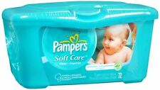 Pampers Natural Aloe Unscented Wipes 72 Each (Pack of 2)