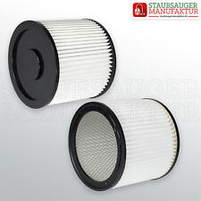 2 x Filter passend für Fam Powervac Dauerfilter Rundfilter Lamellenfilter Filter