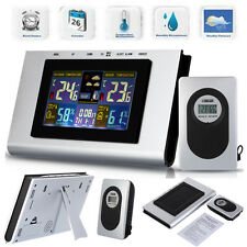 433MHz Wireless Weather Station Temp Alert Clock Thermometer Hygrometer Forecast