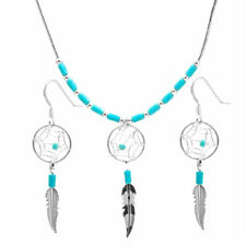 Native American Indian Jewelry dream catcher sterling silver necklace & earrings