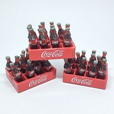 36 Soda Coca Cola Bottle 3 Crates Dollhouse Miniatures Wholesale Set Mini Doll