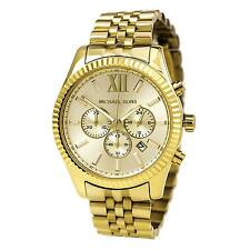 Michael Kors MK8281 Men's Lexington Chronograph Gold Dial Gold Tone Steel Watch