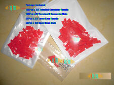 50Pair Good JST 2-Pin Connector Plug RED Case Male&Female with Crimp For Lipo RC