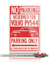 Volvo PV544 Coupe Reserved Parking Only 12x18 Aluminum Sign - Swedish Car