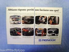 QUATTROR990-PUBBLICITA'/ADVERTISING-1990- PIONEER CD MULTI M-3000 -2 fogli