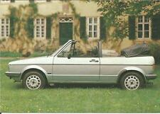 Carte potale Poscard VOLKSWAGEN GOLF GTI CABRIOLET  KARMANN