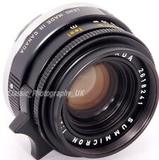 Leica summicron 1:2/35mm 11309 wide-angle lens for leica-m par leitz canada 1973