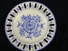Portugal Pottery Vestal Alcobaca Hand Painted  Blue & White EUC