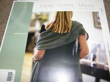 Louet 3 Stoles Knitting Patterns Lacey - Casey - Masey