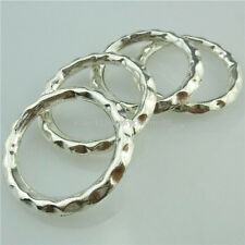 14901 10PCS Alloy Antique Silver Round Ring Pendant Connecter Fashion Jewelry