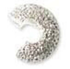 144 SILVER PLATED STARDUST CRIMP KNOT BEAD COVERS 4MM